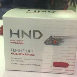 Nutraceuticos Femme Lift Cabelo Pele e Unhas