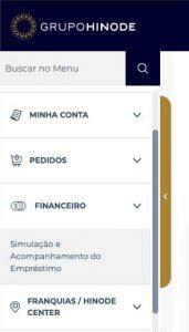 Emprestimo Hinode - Menu Financeiro