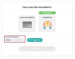 Pagamento online Emprestimo